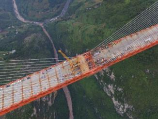 China has created the world's highest bridge, the Beipanjiang Bridge Duge