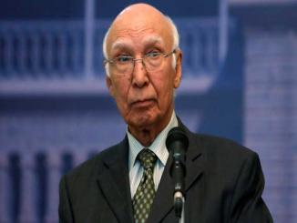 Sartaj Aziz, yet again threatening India for war