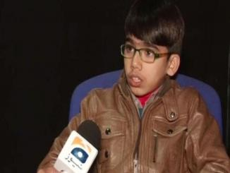 Pakistan, Sabeel Haider, Quaid-e-Azam's 141st birthday, 11 year old accuses of stealing speech