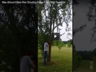 Video: Man escapes narrow death on Camera after he fires from Rifle