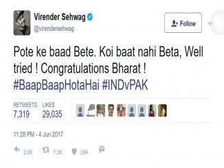 Virendra Sehwag's reply to Rashid Latif indecent facebook post