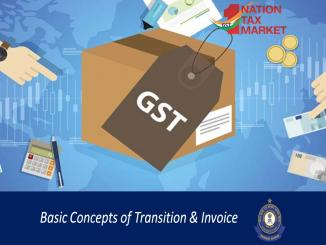 One Nation One tax market GST: Basic Concepts of Transition & Invoice
