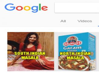 Search South Indian masala google shows images actresses Why?