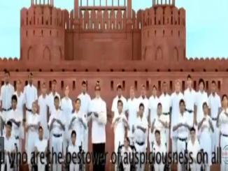 Amitabh Bachchan Sings National Anthem With Differently-abled Children