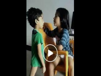 Viral Video: child teaches another child not to do toilet anywhere