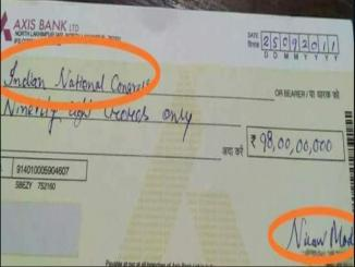 Nirav Modi donate 98 crore to Indian National Congress