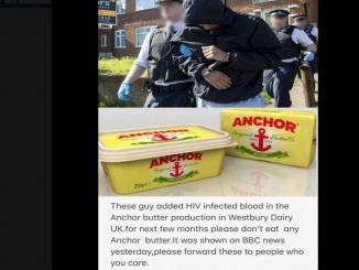 HIV Infected Blood Added to Anchor Butter Products, 2018