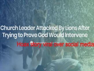 Was Church Leader Attacked By Lions, Proving God Would Intervene