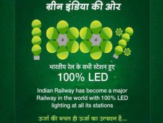 Indian Railways achieves target of 100% LED lighting at all stations