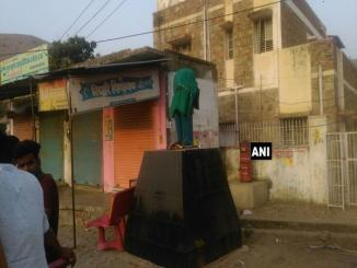 BR Ambedkar was vandalised by unidentified persons in Firozabad
