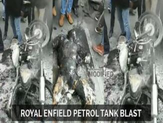 Royal Enfield motorcycle Petrol tank blast electronic City Begur, malkapet