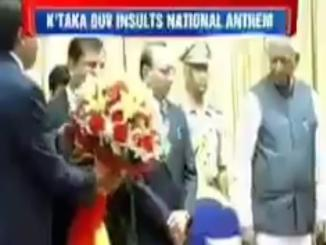 Karnataka Governor Insults National Anthem, 2015 video viral now