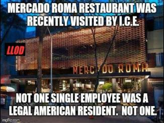 Was Mercado Roma restaurant recently visited by ICE, no it's fake