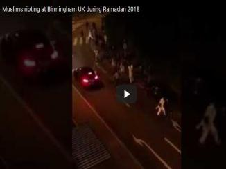 Fake video: Muslims rioting at Birmingham UK during Ramadan 2018