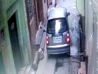 Watch: woman drops a new-born baby from a car in Muzaffarnagar
