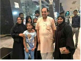 Does Subramanian Swamy has Muslim daughter and grand daughter