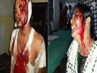 Viral picture claims to be taken of an attack on Shiv devotees in Bhagalpur attacked