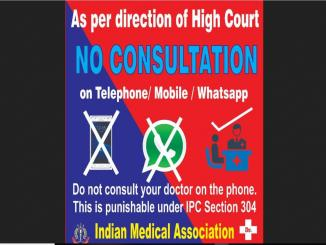Consultation to doctor over telephone-mobile-whatsapp punishable, is advisory