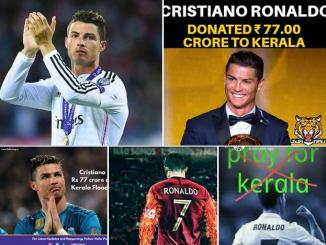 Cristiano Ronaldo real life Hero Kerala donate money 77 crores
