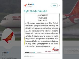 Will Air India to be closed permanently after 1st October 2018