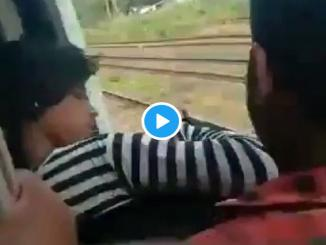 Viral Video of Mumbai Girl, slips from train saved and fined