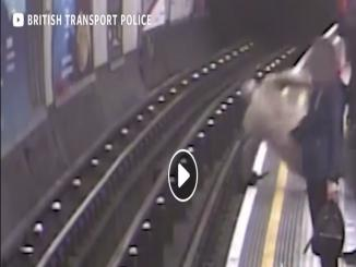 Terrifying viral video of a man being pushed on London Subway