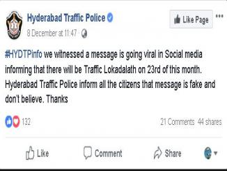 Truth about 50 percent discount on traffic penalties, Hyderabad
