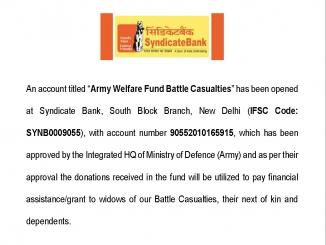 Army Welfare Fund Battle Casualties viral message, Pay only Rs1