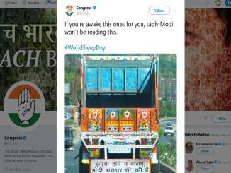 Congress childish memes on Modi, on truck will make you laugh