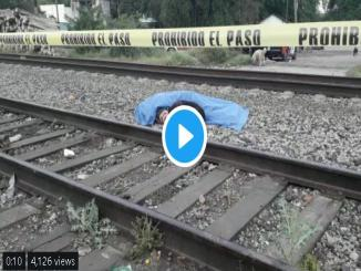 Loyal dog lying by the dead body of owner hit by train
