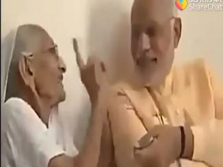 PM modi with his mother, 2014 video flipped in 2019