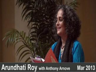 Did Arundhati Roy say Babri Masjid demolished in 2002