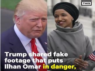 Donald Trump promotes Ilhan Omar of dancing video