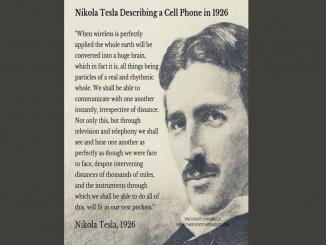 Did Nikola Tesla predict the smartphone wireless mobile phones in 1926.
