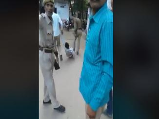 Police dragging man, Basti man beaten by police is old video, viral now