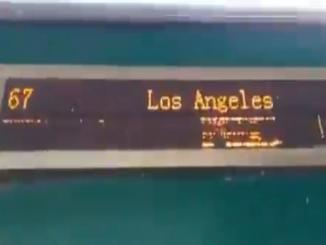 Pakistan Video of train is said to be running to Los Angles