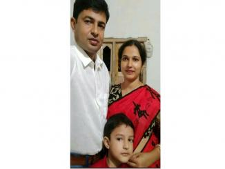 RSS member, his pregnant wife and child were strangled to death