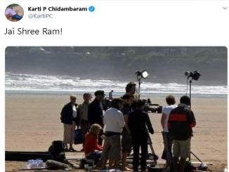 Karti P Chidambaram tweets misleading images of PM Modi