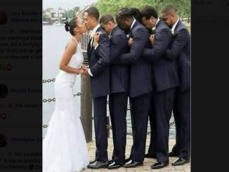 Groomsman hold up paralyzed groom for his wedding Image viral since 2016