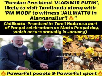 Will Vladimir Putin visit TamilNadu, with Modi for Jallikattu, No it is fake