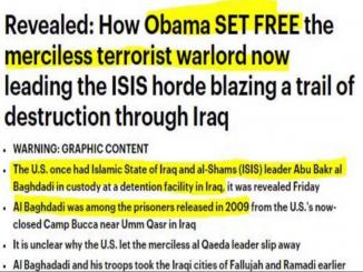 Was Abu Bakr al-Baghdadi being released under Barack Obama in 2009