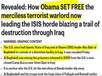 Was Abu Bakr al-Baghdadi being released under Barack Obama in 2009