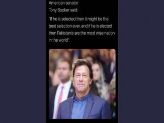 American senator tony Booker praising pakistan prime minister khan is fake