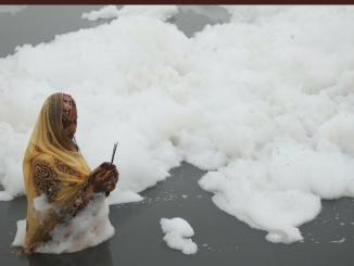 Images shared on Yamuna Froth during Chatt Puja is old and many new