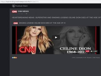 Celine Dion death Hoax viral on social media