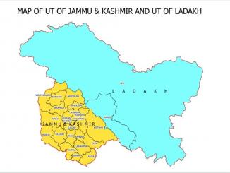 New map of India with Ladakh & Jammu & Kashmir