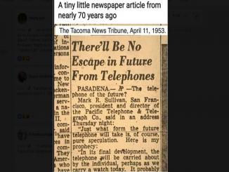 1953, There'll Be No Escape in Future From Telephones