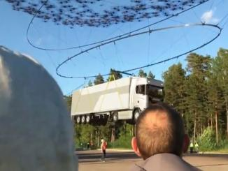 Can you pick up a 40-ton truck with 2,000 drones