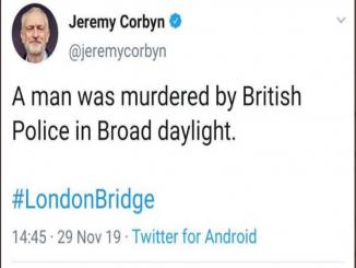 A man was murdered by British Police in Broad daylight Jeremy Corbyn