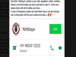 Fake Nirbhaya Helpline number 9833312222 is shared